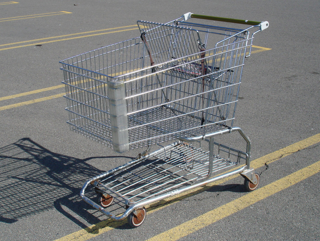 Shopping Trolley Dent